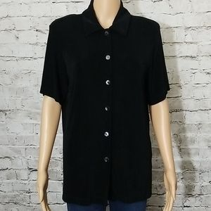 ⚜chico's travelers top size 1 blsck